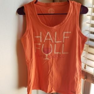 (3 for $12) Life is Good orange tank top size M